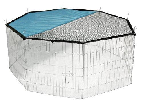 Kerbl Freigehege aus 8 Gittern, verzinkt, mit Netz und Tür, Ø 143 cm Review