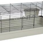 Kaninchen und Meerschweinchenheim SAMMY 120 schwarz lichtgrau