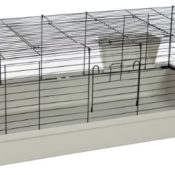 Kaninchen- und Meerschweinchenheim SAMMY 120 schwarz-lichtgrau