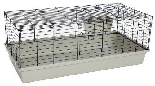 Kaninchen-und Meerschweinchenheim SAMMY 120 schwarz-lichtgrau