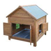Kerbl Kleintierstall für Hühner oder Kaninchen, 105 x 100 x 108 cm - 1