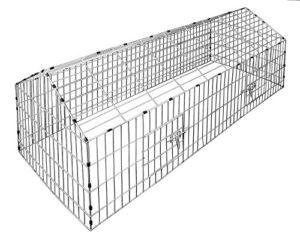 Kaninchenstall SONNENSCHUTZ Hasenkäfig Käfig Freilauf Gehege Hasenstall Metall - 3