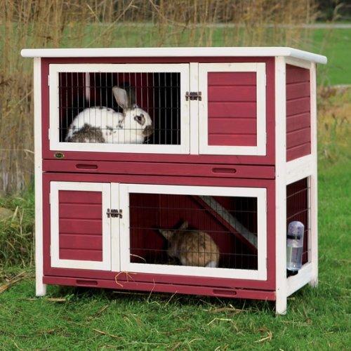 Trixie Kaninchenstall Natura Kleintierstall 2 Etagen rot/weiß