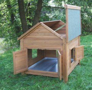 Kerbl Kleintierstall für Hühner oder Kaninchen, 105 x 100 x 108 cm - 3