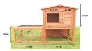 Kaninchenstall Kleintierhaus Hasenstall Kleintierkäfig Nr. 04